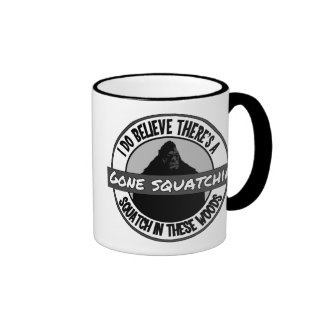 Circle - Gone Squatchin' - Squatch in these Woods Mugs