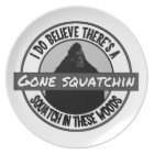 Circle - Gone Squatchin' - Squatch in these Woods Plate