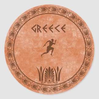 circle Greek design Classic Round Sticker