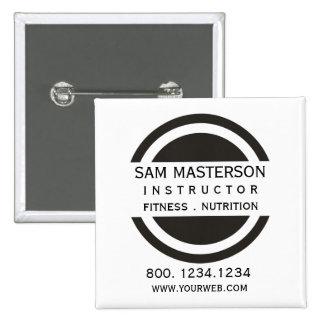 Circle & Half Company Professional  Business 15 Cm Square Badge