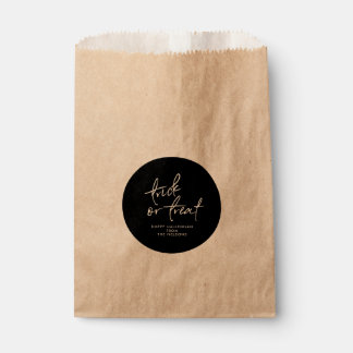 Circle Halloween Favor Bag | Halloween Treat Bag