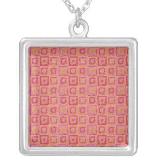 Circle in a Square Granny Square Necklace