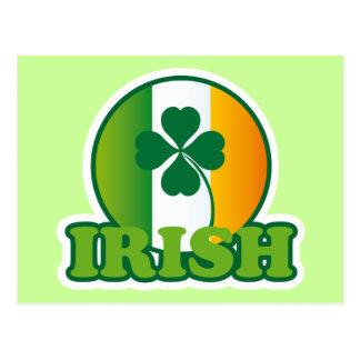 Circle Irish Flag St Patrick s Design Postcards