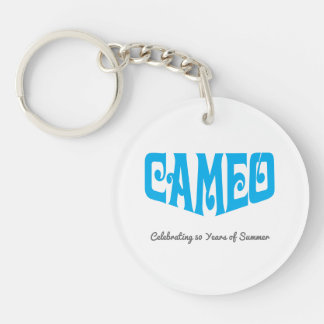 Circle Key Chain with Blue Cameo Logo