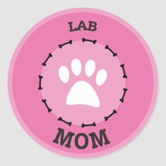 Circle Lab Mom Badge Classic Round Sticker