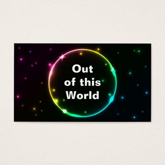 Circle lighting effect business card