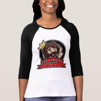 Circle Logo - Women's 3/4 Sleeve Raglan (Black) T-Shirt