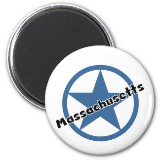 Circle Massachusetts 6 Cm Round Magnet