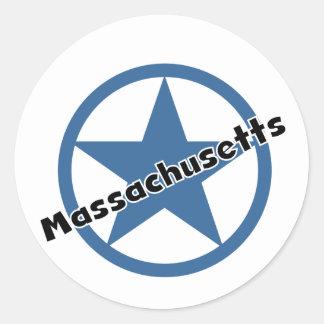 Circle Massachusetts Sticker