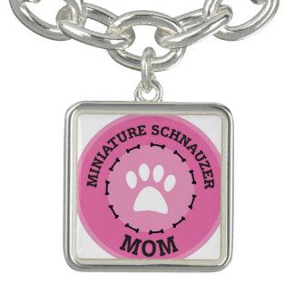 Circle Miniature Schnauzer Mom Badge
