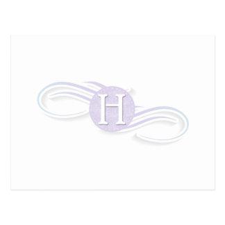 Circle Monogram H Postcard