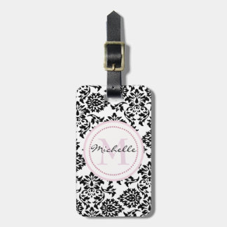 Circle monogram luggage tag