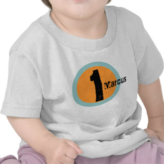 Circle Name and Age 1st Birthday Tshirt