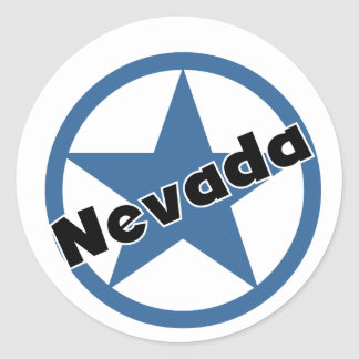 Circle Nevada Classic Round Sticker