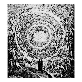 Circle of Angels Dante's Paradise Illustration Poster