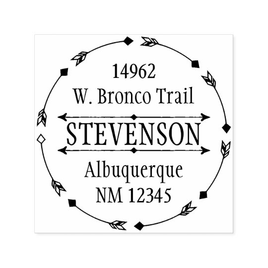 Circle of Arrows Custom Return Address Stamp