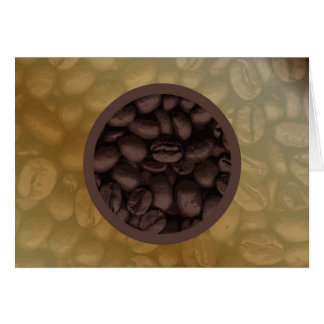 Circle Of Coffee Beans Card