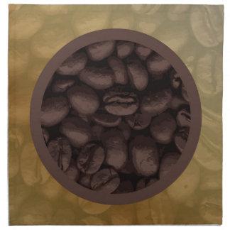Circle Of Coffee Beans Napkin