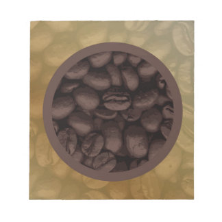 Circle Of Coffee Beans Notepad