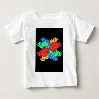Circle Of Color Black Baby T-Shirt