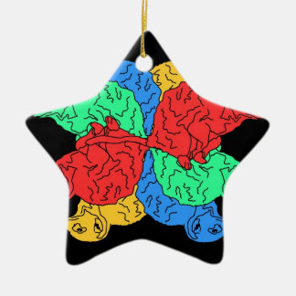 Circle Of Color Black Christmas Ornament