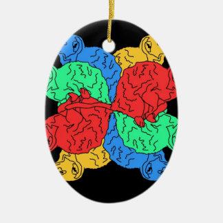 Circle Of Color Black Christmas Ornament