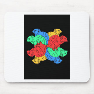 Circle Of Color Black Mouse Pad