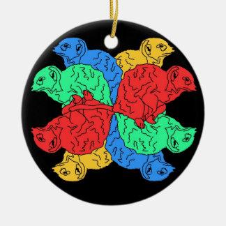 Circle Of Color Black Round Ceramic Decoration