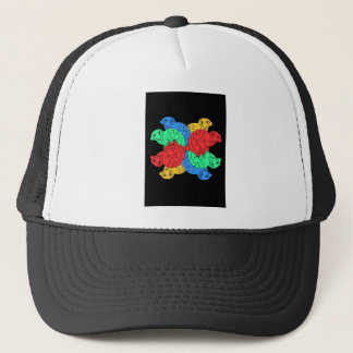 Circle Of Color Black Trucker Hat
