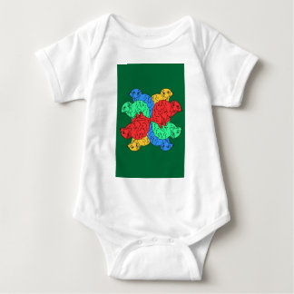 Circle Of Color Green Baby Bodysuit