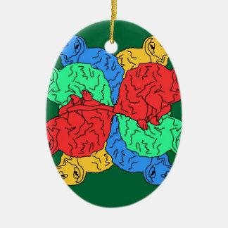 Circle Of Color Green Christmas Ornament