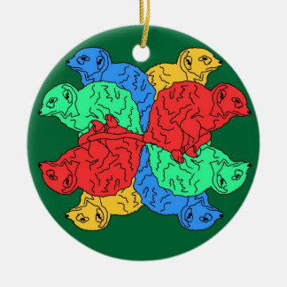 Circle Of Color Green Christmas Ornament