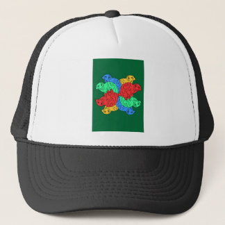 Circle Of Color Green Trucker Hat