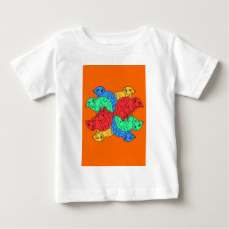 Circle Of Color Orange Baby T-Shirt