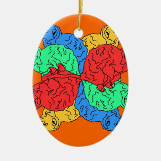 Circle Of Color Orange Christmas Ornament