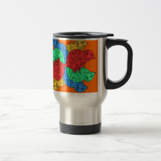 Circle Of Color Orange Travel Mug