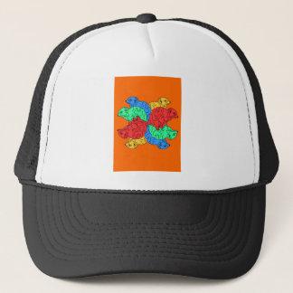 Circle Of Color Orange Trucker Hat