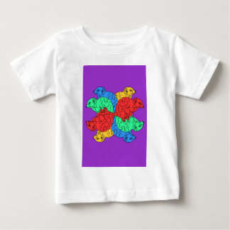 Circle Of Color Purple Baby T-Shirt
