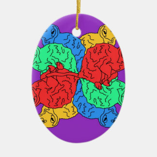 Circle Of Color Purple Christmas Ornament