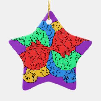 Circle Of Color Purple Christmas Ornament