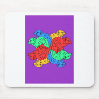 Circle Of Color Purple Mouse Pad