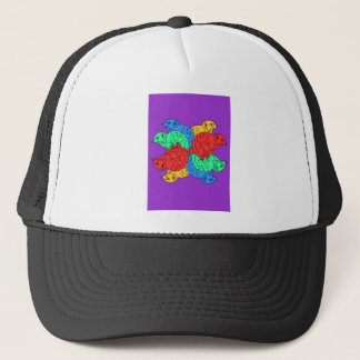Circle Of Color Purple Trucker Hat