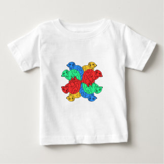 Circle Of Color White Baby T-Shirt