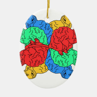 Circle Of Color White Christmas Ornament