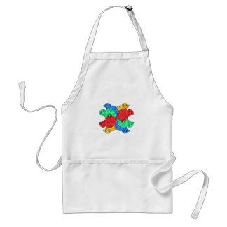 Circle Of Color White Standard Apron