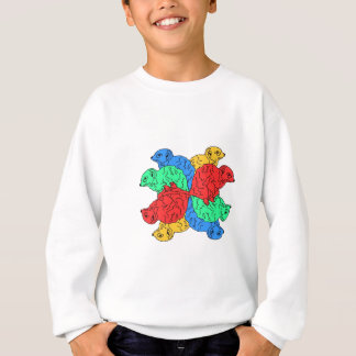 Circle Of Color White Sweatshirt