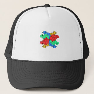 Circle Of Color White Trucker Hat