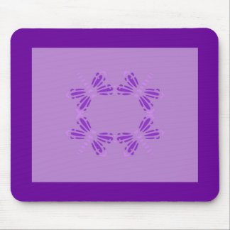 Circle of Dragonflies, purple & pink Mouse Mat