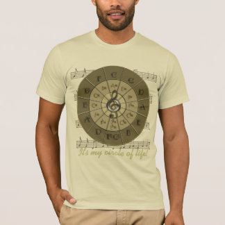 Circle of Fifths Deco Gold T-Shirt