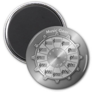 Circle of Fifths Is Essential Music Gear 6 Cm Round Magnet